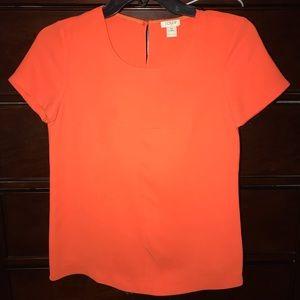 J Crew Orange Top